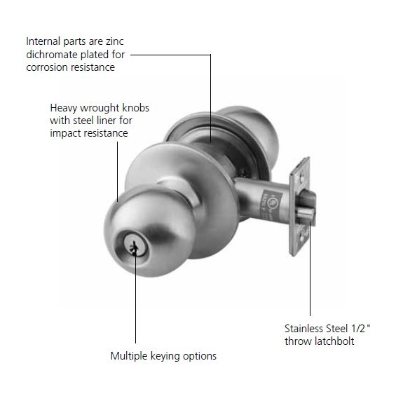 corbin russwin templates - corbin russwin ck4355 grade 1 classroom knob lock taylor
