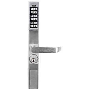 Dl1200 Alarm Lock Trilogy Keyless Narrow Stile Lock For