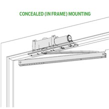 LCN 2010 Series Overhead Concealed Door Closer