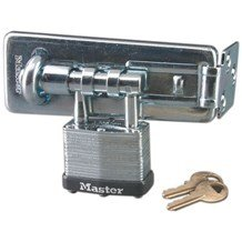 Master Lock 475 Hasp & Lock Combo