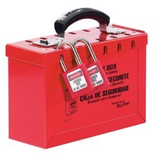 498A Portable Red Group Lock Box