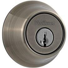 Kwikset 660-15A Antique Nickel Single Cylinder Deadbolt (660 Series)