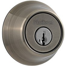 Kwikset 665-15A Antique Nickel Double Cylinder Deadbolt (660 Series)
