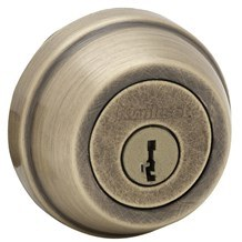 Kwikset 785-5-SMT Antique Brass Double Cylinder Deadbolt with SmartKey (780 Series)
