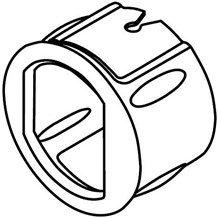 Kwikset 81829 6-Way Plain Latch Collar (Passage & Privacy)