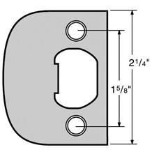 Kwikset 83437 Full Lip Square Corner Strike Plate
