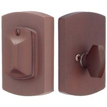 Emtek Deadbolts: #4 Style Plate with Flap Deadbolt
