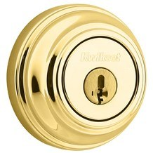 Kwikset 985-L03-SMT Lifetime Brass Double Cylinder Deadbolt with SmartKey (980 Series)