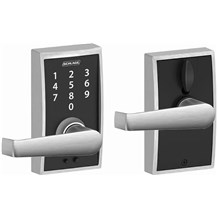 Schlage FE695-CEN-ELA Century Touch Entry Door Lever Set with Elan Lever