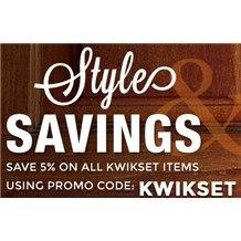 PROMO CODE: KWIKSET - Save 5%!