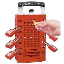 503RED Dual Application OSHA Red Group Lock Box