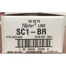 Generic Schlage: SC1-BR Keyblank (50-Pack)