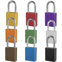 American A1106 Anodized Aluminum 5-Pin Safety Padlock - 1-1/2