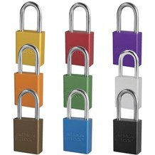 American A1166 Anodized Aluminum 6-Pin Safety Padlock - 1-1/2