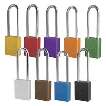 American A1167 Anodized Aluminum 6-Pin Safety Padlock - 3