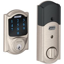 Schlage BE469NX-CAM Connect Camelot Touchscreen Deadbolt Built-in Alarm and Z-Wave Technology