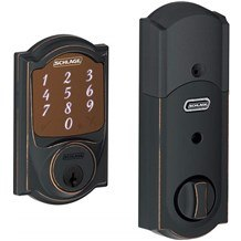 Schlage BE479AA-CAM Sense Camelot Touchscreen Deadbolt with Built-in Alarm