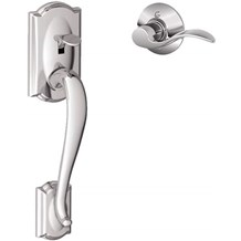 Schlage FE285-CAM-ACC Camelot Lower Handleset for Electronic Keypad with Accent Interior Lever