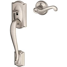 Schlage FE285-CAM-FLA Camelot Lower Handleset for Electronic Keypad with Flair Interior Lever