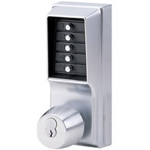 1041S-26D Simplex Pushbutton Lock with Knob w/ Key Override & Passage Mode (Schlage)
