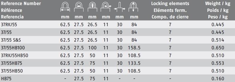 Abus 37hb 55 Granit Extreme Padlock Taylor Security Amp Lock