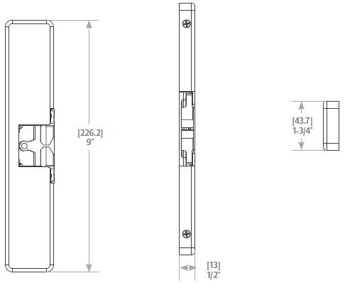 hes 9400 630 electric strike taylor security lock Door Hardware Electric Strike