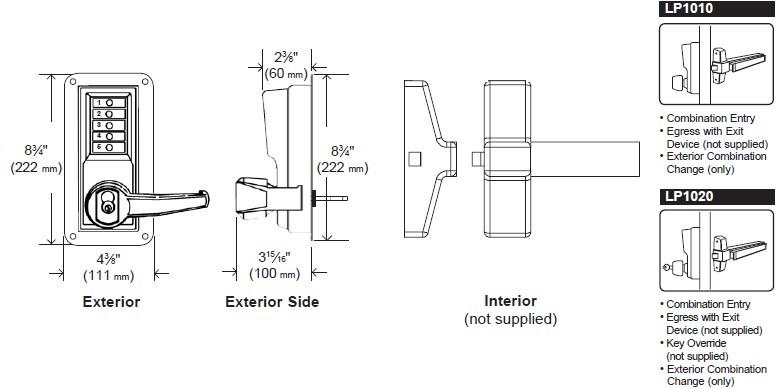 kaba simplex 8100 series parts