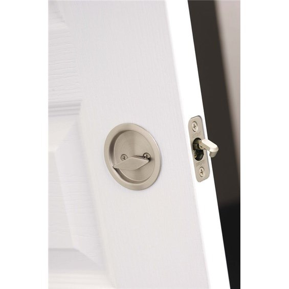 Kwikset 335 Privacy Round Pocket Door Lock For Sliding