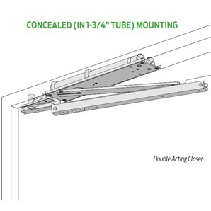 Lcn 6033 H Bumper Pacer 174 Double Acting Overhead Concealed