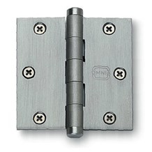 Omnia Plain Bearing Hinges - Solid Extruded Brass