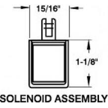 Folger Adam 076-0122-003 Replacement Solenoid (Fail Secure)