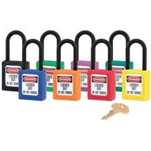 Master 406 Thermoplastic Non-Conductive, Non-Magnetic, Non-Sparking Safety Padlock