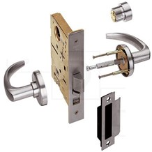 Best 45H7A15H-626AM UltraShield Antimicrobial Mortise Lock, 15 Lever, Office