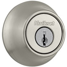 Kwikset 660-15-SMT Satin Nickel Single Cylinder Deadbolt with SmartKey (660 Series)