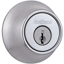 Kwikset 660-26D Satin Chrome Single Cylinder Deadbolt (660 Series)