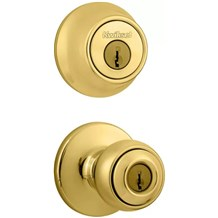 Kwikset 690P Polo Combo Pack Entry Knobset with Single Cylinder Deadbolt