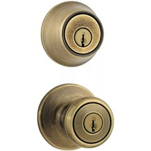 Kwikset 690T Tylo Combo Pack Entry Knobset with Single Cylinder Deadbolt