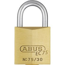 Abus 75/30 Solid Brass Padlock with Dimple Key