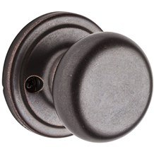 788H-501 Kwikset Hancock Single Dummy Knob in Rustic Bronze (Discontinued)