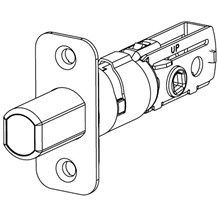Kwikset 83347 RCAL Adjustable Deadbolt Latch with Round Corner Latch Faceplate (780 & 980 Series)