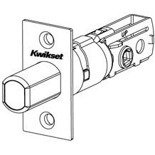 Kwikset 83370 SCAL Adjustable Deadbolt Latch with Square Corner Latch Faceplate (780 & 980 Series)