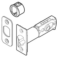 Kwikset 83480 6-Way Adjustable Backset Plain Latch (Contemporary)