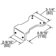 Norton 9328H Adapter Plate (Hold Open)