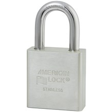 American No. A6400 Solid Stainless Steel Padlock