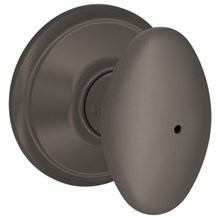 F40-SIE-613 Schlage Siena Privacy Knob in Oil Rubbed Bronze (Discontinued)
