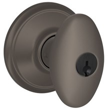 F51A-SIE-613 Schlage Siena Keyed Entry Knob in Oil Rubbed Bronze (Discontinued)