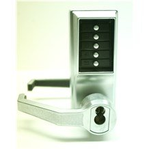 L1021 Simplex Pushbutton Lock with Lever w/ Key Override