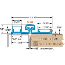 Select Hinges SL57CLSD83 TIPIT Ligature-Resistant Full Surface Geared Continuous Hinge