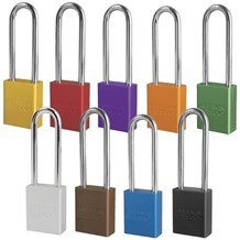 American A1107 Anodized Aluminum 5-Pin Safety Padlock - 3
