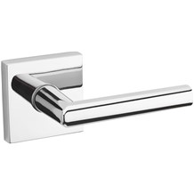 154MIL SQT 26 Polished Chrome Passage Lever, Kwikset Milan (Clearance)